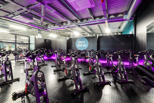 PureGym cycle studio