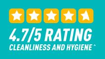 4.7/5 Rating Cleanliness and hygiene at PureGym