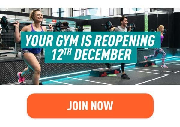 Your gym is reopening 12th December